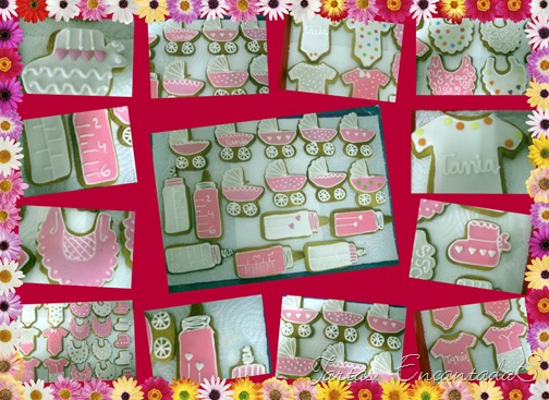 Collage de babyshower girl