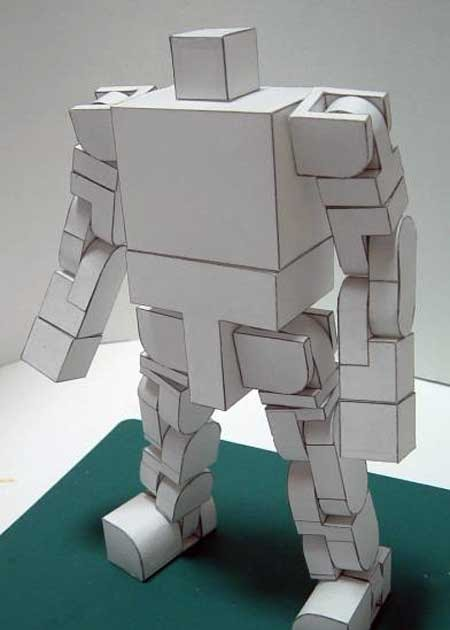 Highly Poseable Robot Papercraft Paperkraft Net Free