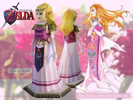 Princess Zelda Papercraft