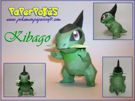 Pokemon Kibago Papercraft