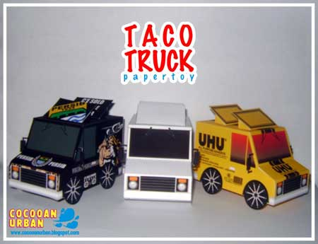 Taco Truck Paper Toys