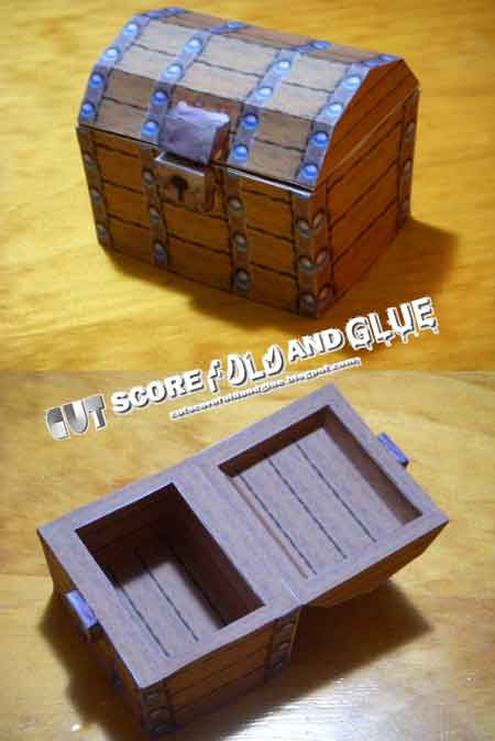 Super Mario 64 Treasure Chest Papercraft