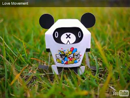 Love Movement Paper Toy
