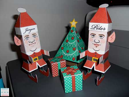 Christmas Elves Papercraft
