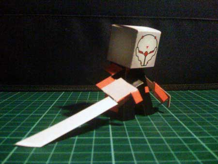 Metal Gear Solid - Gray Fox Paper Toy