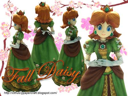Princess Daisy Papercraft Fall Season