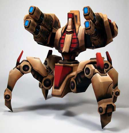 StarCraft 2 Immortal Papercraft