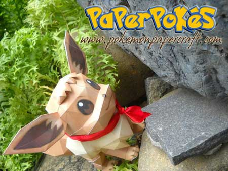 Pokemon Eevee Papercraft 2