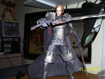 Dissidia Final Fantasy Gabranth Papercraft