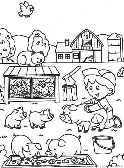 Dibujos De La Granja Para Colorear
