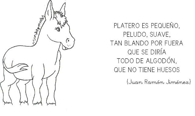 PLATERO Y YO LAMINAS PARA PINTAR