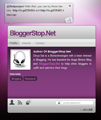Personalized Profile Page For Bloggers !