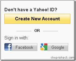 Go to Yahoo mail & click on the respective Gmail button.