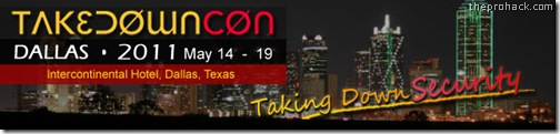 TakeDownCon Dallas – EC Council Information Security Conference - theprohack.com