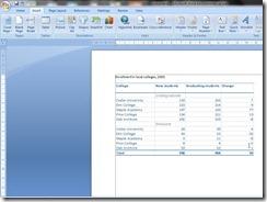 Tabel Excel di Word sebagai objek