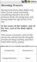 Screenshot of English Orthodox Prayers