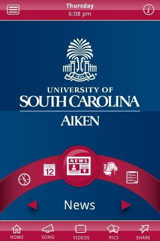 USC Aiken- screenshot