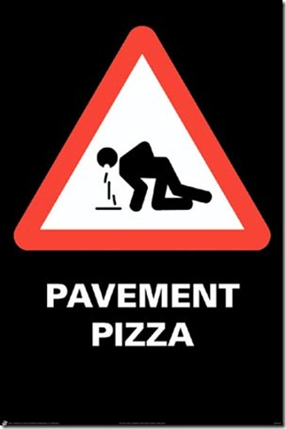 lghwr1041 caution-vomit-ahead-pavement-pizza-alert-poster