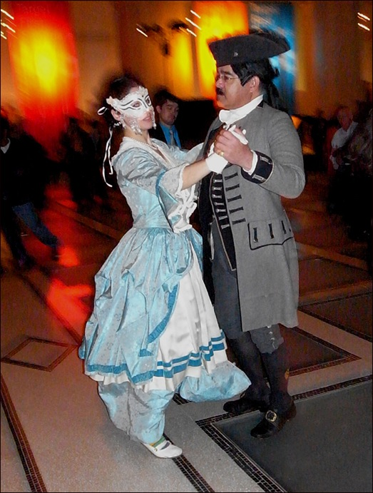 cpl dancing  in costume