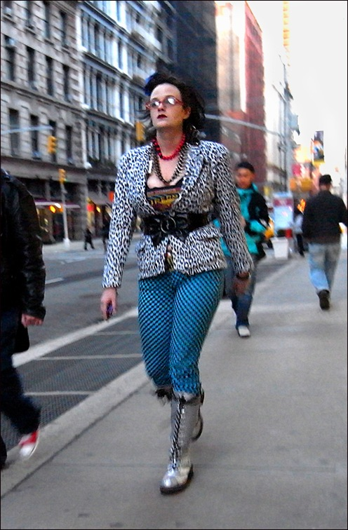 w silver docs blue check pants leopard jacket