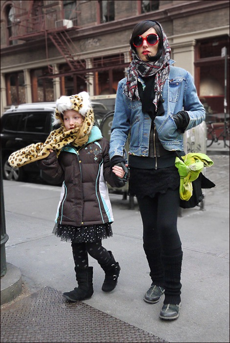 w and d  leopard hat-scarf w head scarf red sunglasses denim jacket