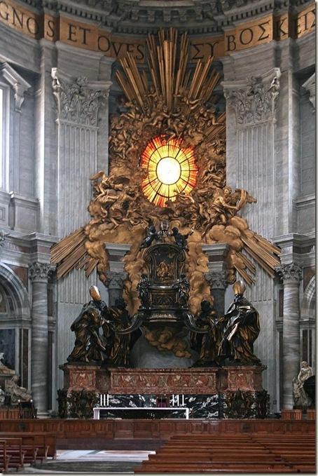 Catedra Petri, Basílica de São Pedro, Vaticano, Roma