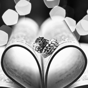 rings  by Pravin Dabhade - Black & White Objects & Still Life ( canon, macro, wedding, still life, rings, close up )
