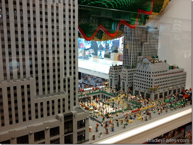 Rockefeller Center built with LEGOs.