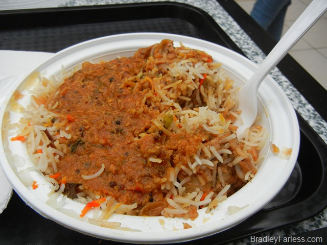 Chicken biryani from A Taste of India at Newport Centre Mall.