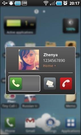 Tiny Call Confirm Plus+ Screenshot