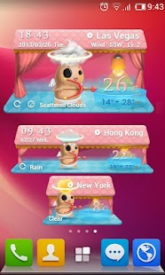 Cupid Theme GO Weather EX - screenshot thumbnail