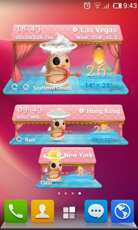 Cupid Theme GO Weather EX - screenshot