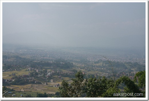View of Kathmandu From Statue of Lord Shiva