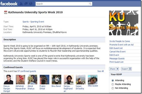 facebook event