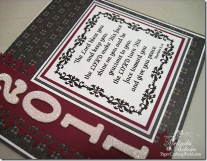 closeup side view of grad card