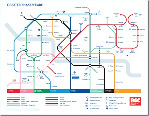 Shakespeare Tube Map - Hilarious!