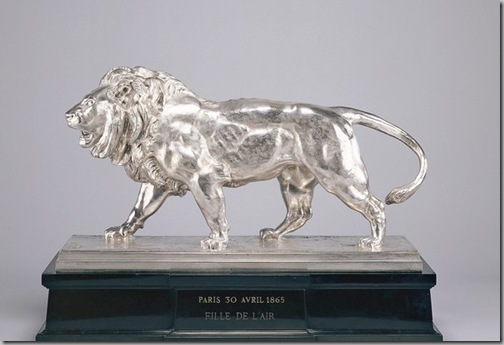 Antoine-Louis Barye Walking Lion Striding Lion