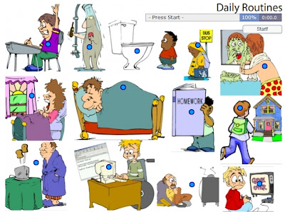 Chiew's CLIL EFL ESL Blog: Daily Routines