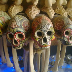 Skull World by Samhita Das - Artistic Objects Other Objects ( modern, skull, new, colors, bones, beauty, design )