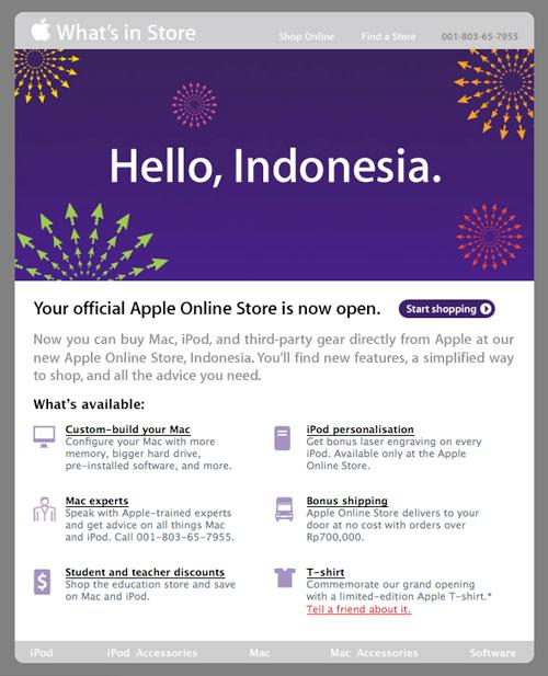 Apple Store: Hello, Indonesia