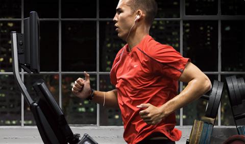 Nike plus iPod at Gym