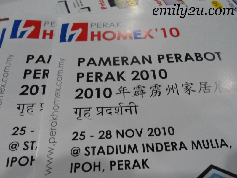 Perak Home Exposition 2010 (Perak HOMEX '10) Pameran Perabot Perak 2010