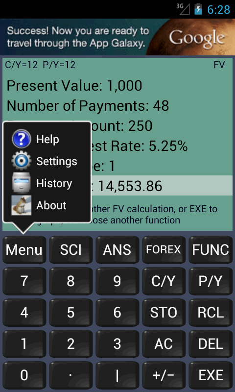 Financial Calculator- screenshot