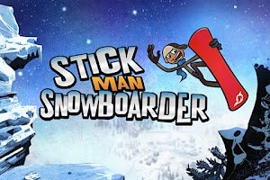 Screenshot of Stickman Snowboarder