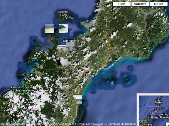Localisation des photos Palawan Nord (Philippines)