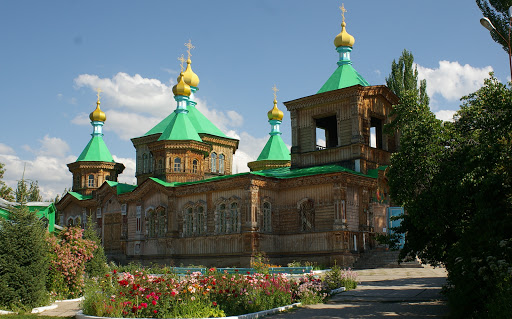 La cathédrale orthodoxe de Karakol, 9 juillet 2006. Photo : J.-M. Gayman