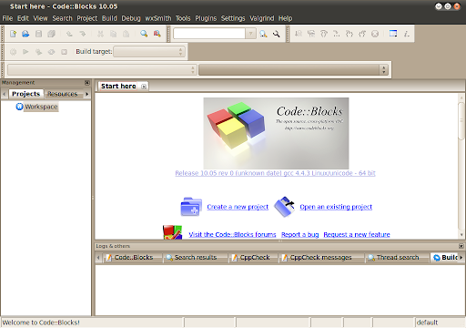 logiciel code blocks 10.05