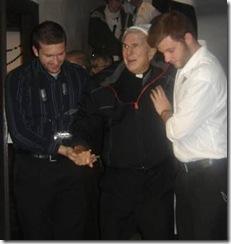 Dan with Fr. Dymski and Chris