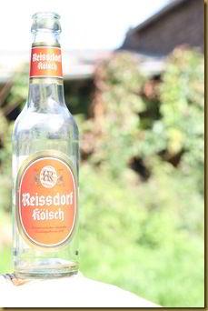 Overexposed beer bottle