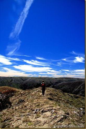Walking the Razorback in the Victorian Alps - a 22km day hike - Australia